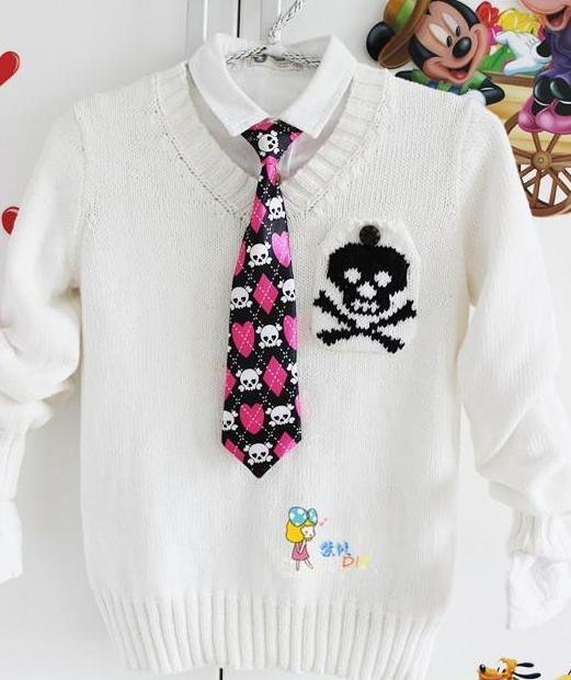 Детский пуловер с черепом. Схема (1) (521x620, 373Kb)