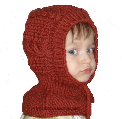 Шапочка-шлем вязание