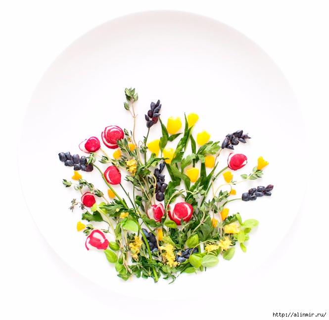 шедевры из остатков продуктов цветы (665x646, 179Kb)