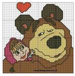 Превью маша Рё медведь схемы вышивки 9 (564x571, 285Kb)
