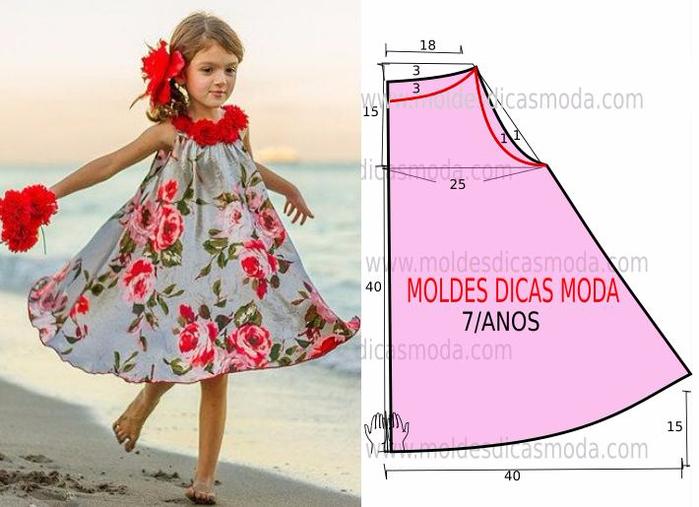 20 моделей потрясающих платьев и сарафанов для маленьких модниц (13) (700x507, 282Kb)