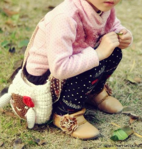 Крючком. Сумочка с овечкой для девочки (10) (466x491, 178Kb)