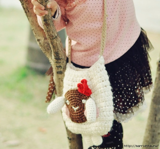 Крючком. Сумочка с овечкой для девочки (12) (558x521, 169Kb)