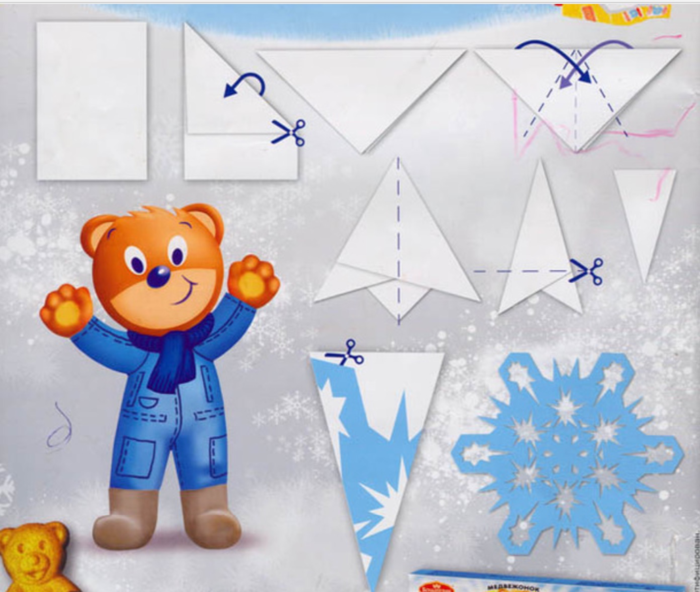Как сделать снежинки на новый год из бумаги