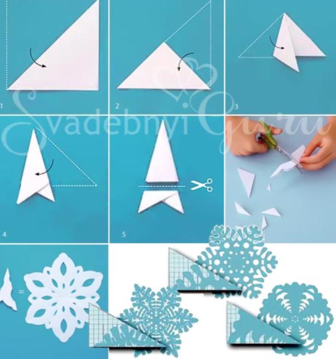 делать снежинки своими руками фото