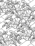 Превью morning glories & lattice printable (492x640, 339Kb)