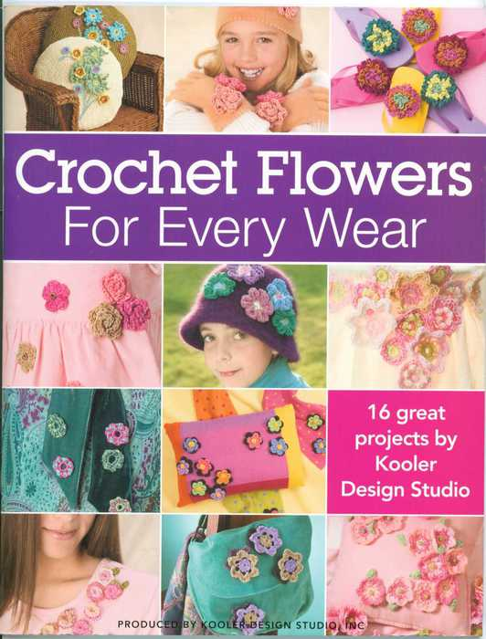 Crochet flowers for every wear (532x700, 50Kb)