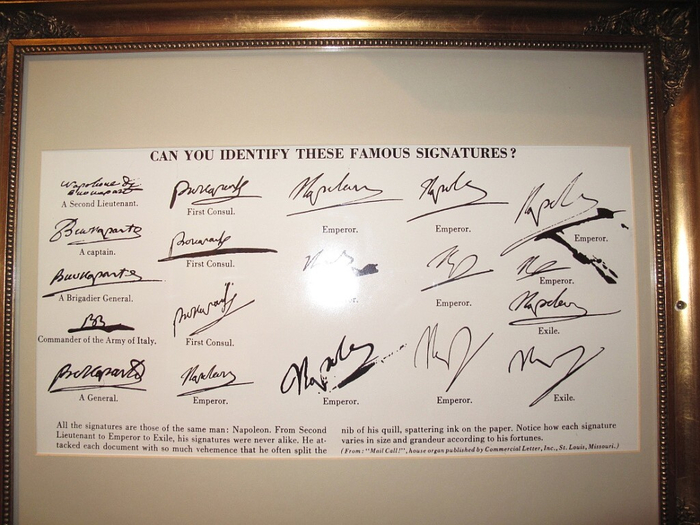 Famous signatures analysis