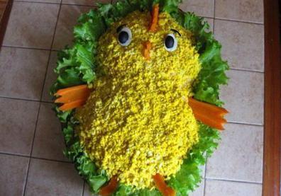 Рецепт новогоднего салата год петуха