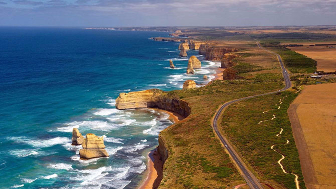 3. Great Ocean Road, Австралия (670x378, 254Kb)