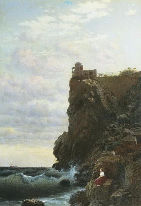 ласт гн 2 Картина Кондратенко Г.П. 1890 год.Девица наверное ожидает постройки причала, и рейсового катера на Ялту. (481x700, 296Kb)