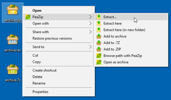 Бесплатный архиватор PeaZip, который может сделать красивыми и другие архиваторы