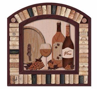 Картины из пробок от вина и шампанского