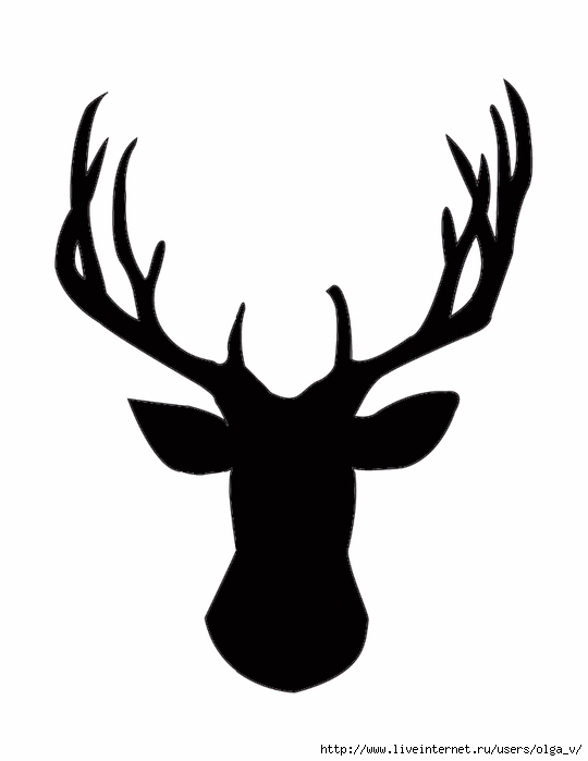 Deer-Head-Silhouette (540x700, 58Kb)