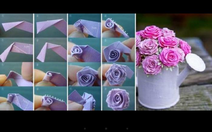 Как сделать  розы из атласной ленты