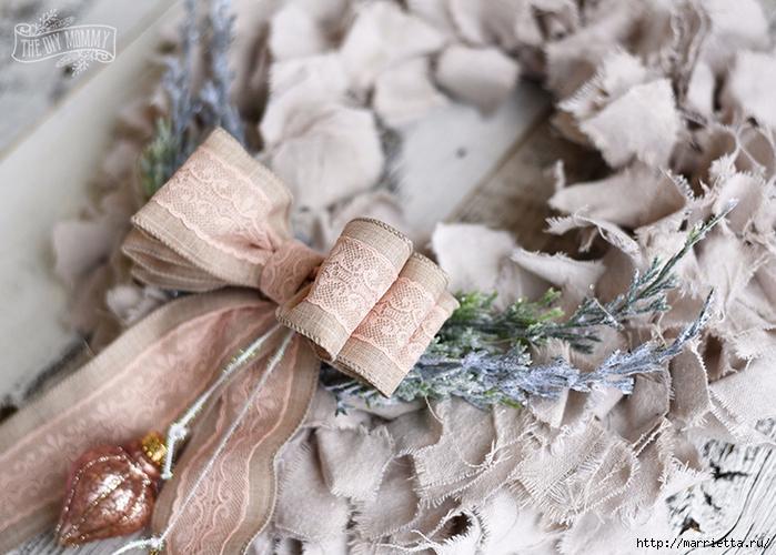 Шикарный рождественский венок в стиле шебби шик (4) (700x500, 297Kb)