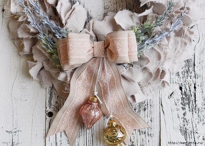 Шикарный рождественский венок в стиле шебби шик (6) (700x500, 376Kb)
