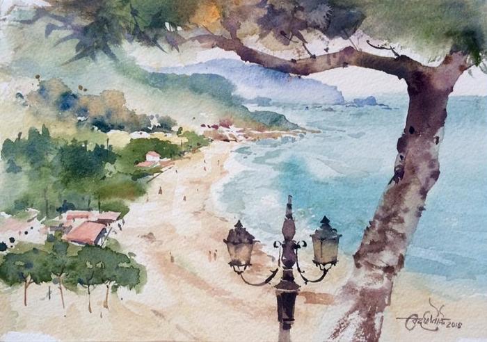 Акварели индийского художника Викранта Шитоле