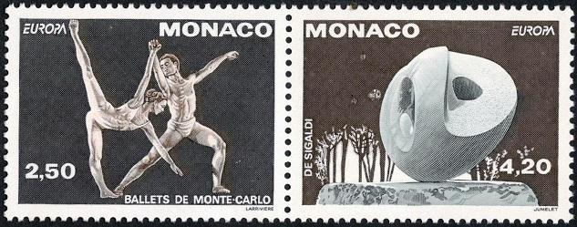 YtMC 1875, YtMC 1876 Монако Evolution Sculpture by Emma de Sigaldi Балет (633x249, 106Kb)