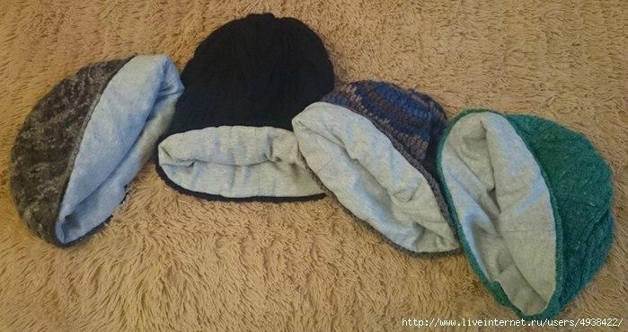 Шьем подклад для вязаной шапки без выкроек
