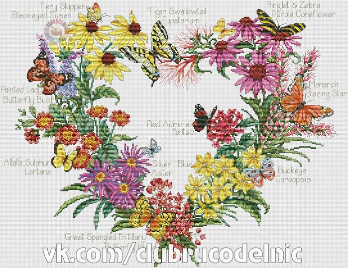 Butterfly Garden (700x539, 547Kb)