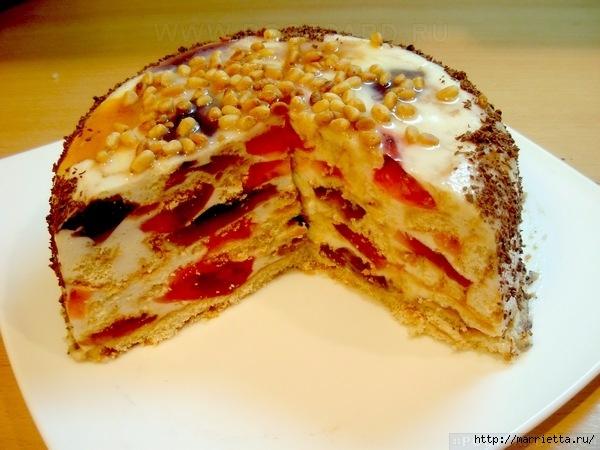 Торт «Битое стекло». Пошаговый рецепт (8) (600x450, 182Kb)