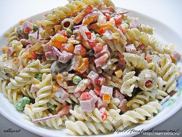 Вкусный макаронный салат. Рецепт (8) (590x443, 218Kb)