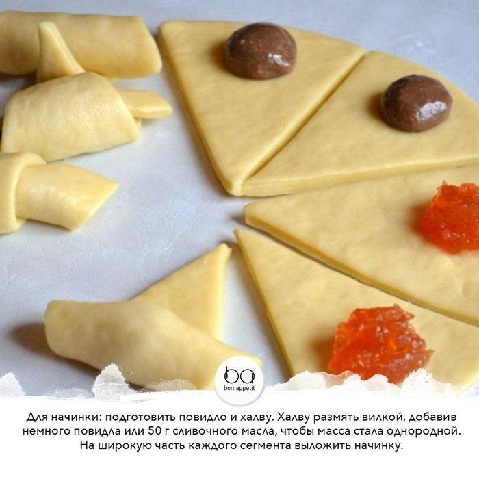 Рогалики из слоеного дрожжевого теста рецепты в духовке
