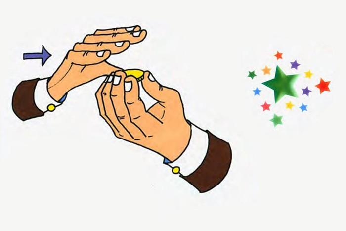 Исчезающая в руке монета   фокусы на исчезновение предметов