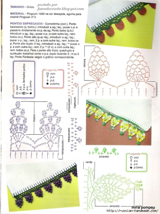 Бананы и клубника на скатерти и полотенце. Обвязка крючком (3) (521x700, 298Kb)