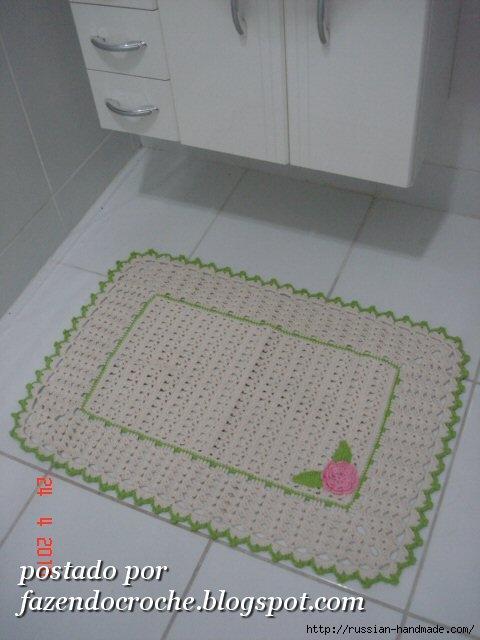 Коврик для ванной. Схема вязания крючком (2) (480x640, 135Kb)