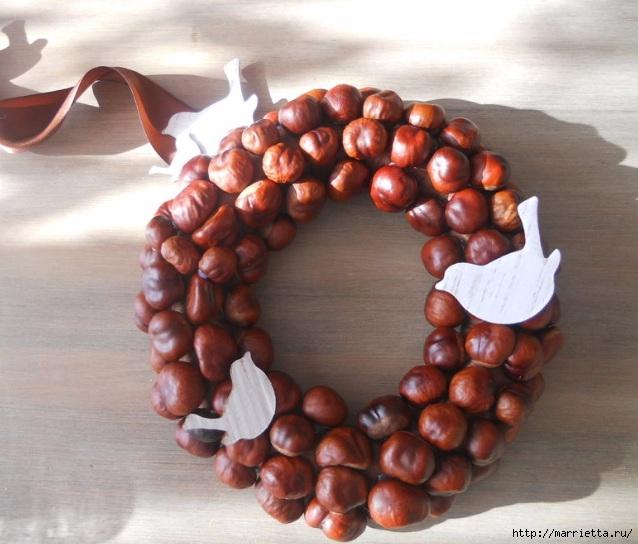 Рождественские венки из природных материалов (1) (638x544, 190Kb)