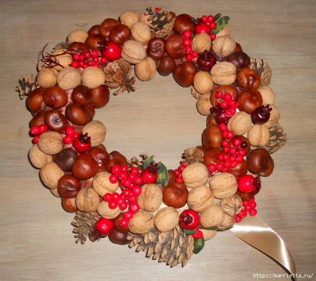 Рождественские венки из природных материалов (8) (632x562, 247Kb)
