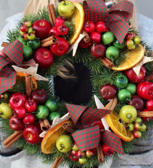 Рождественские венки из природных материалов (10) (590x646, 271Kb)