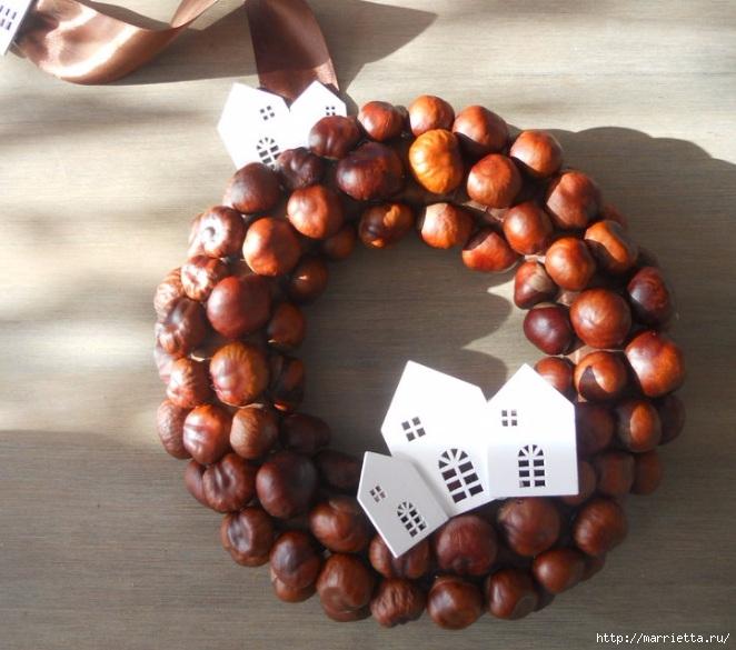Рождественские венки из природных материалов (16) (662x585, 213Kb)