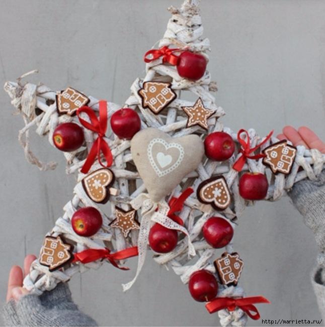 Рождественские венки из природных материалов (18) (646x651, 233Kb)