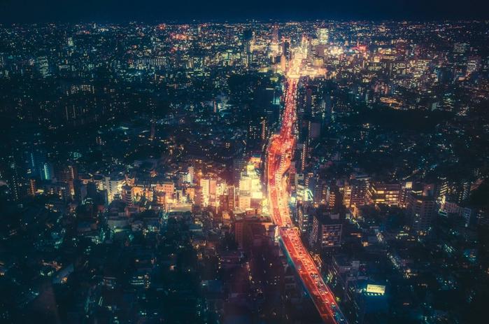 Фотограф Масаси Вакуи. Ночной Токио