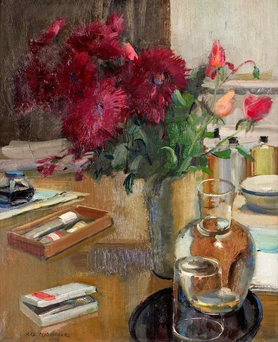 1940_Натюрморт с цветами_61 x 50_х.,м._Частное собрание (568x700, 521Kb)
