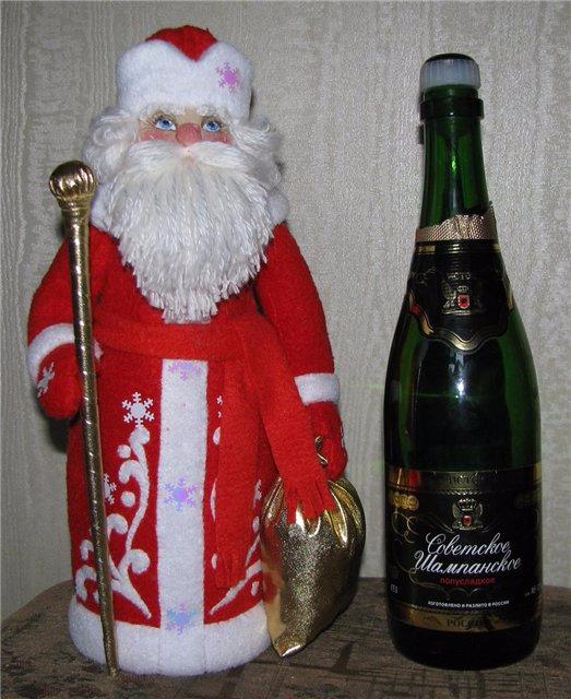 Поделка дед мороз своими руками на бутылку