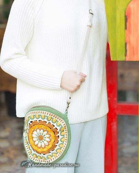 Вяжем крючком круглую сумочку «Мандалу» (3) (467x580, 182Kb)