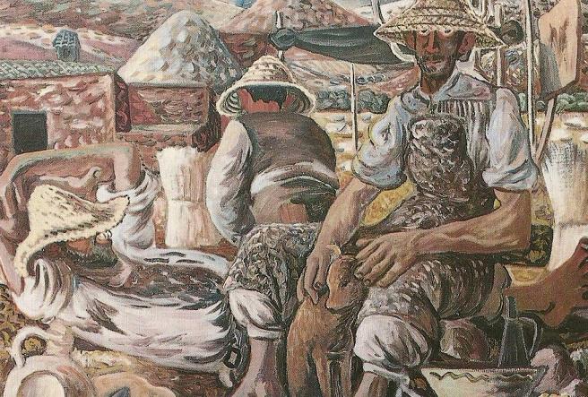 Campesinos. 1947.  Quesada.  Задремавшие жнецы (656x443, 478Kb)