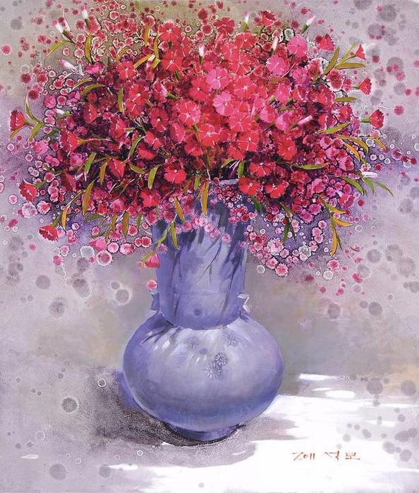 Художник из Кореи Yi Seong-bu9а (594x700, 502Kb)