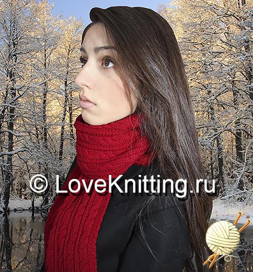 07 Автор Темно-красный шарф МТ2 (500x538, 431Kb)