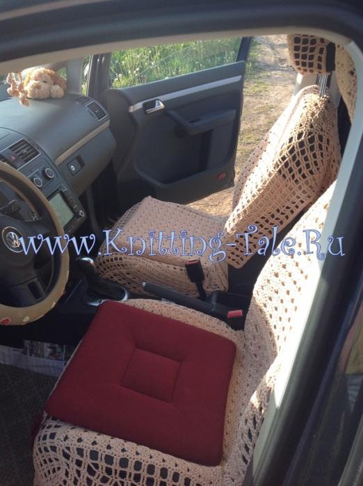 Вязанные чехлы в машину купить