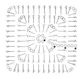 Открытый топ крючком с бабушкиными квадратами (1) (274x262, 36Kb)