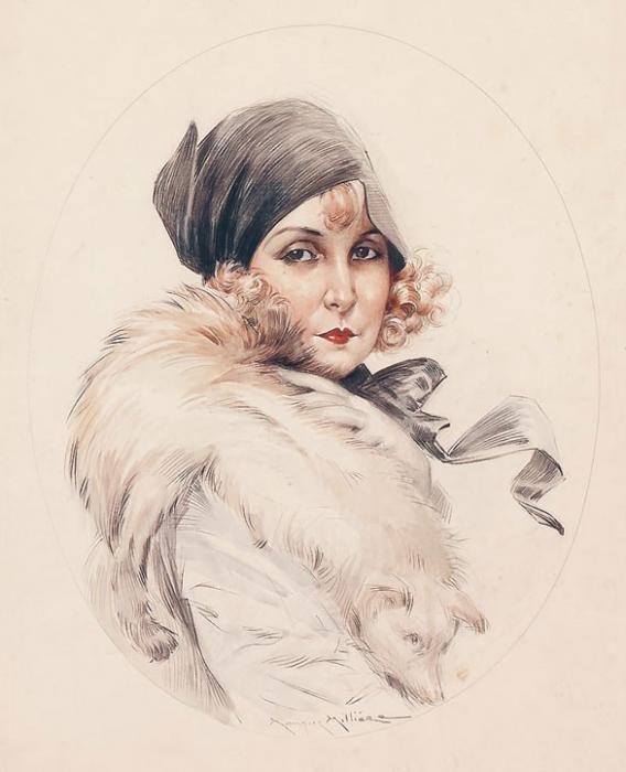 Maurice Milliere  Женский образ (568x700, 38Kb)