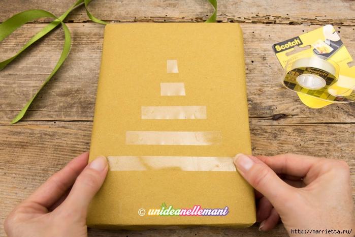 Елочка из ленточек. Оригинальная упаковка подарка (3) (700x466, 248Kb)