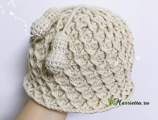 Детская шапочка крючком. Схема вязания (1) (543x412, 181Kb)