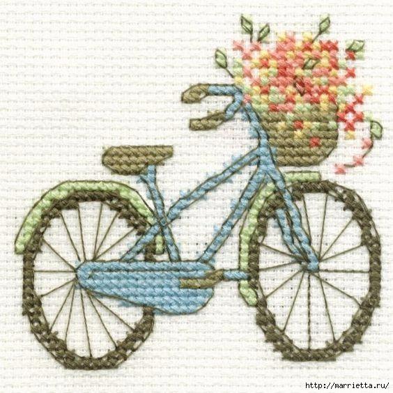 Вышиваем велосипед. Идеи со схемами (2) (564x564, 203Kb)