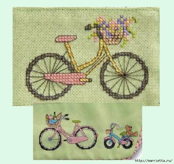 Вышиваем велосипед. Идеи со схемами (10) (561x530, 207Kb)